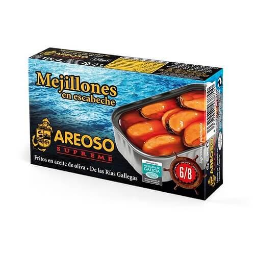 Mejillones en Escabeche con Aceite de Oliva 6-8 Areoso Gourmet