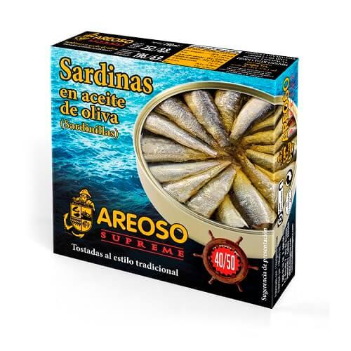 Sardinillas Aceite Oliva Areoso Gourmet 40-50