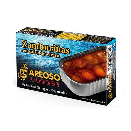 Zamburiña en Salsa de Vieira Areoso Gourmet