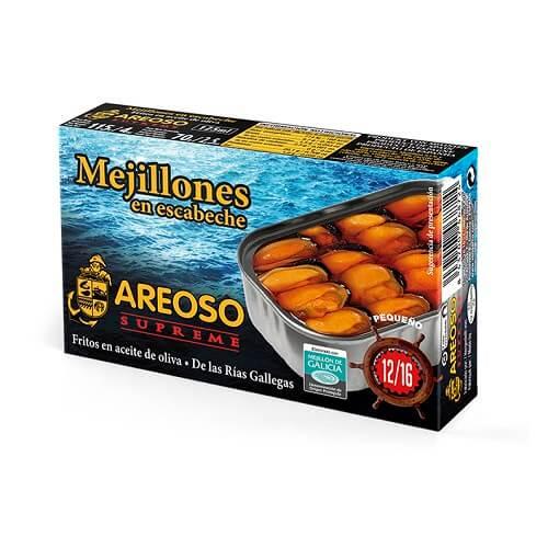 Mejillones en Escabeche Areoso Gourmet 12-16