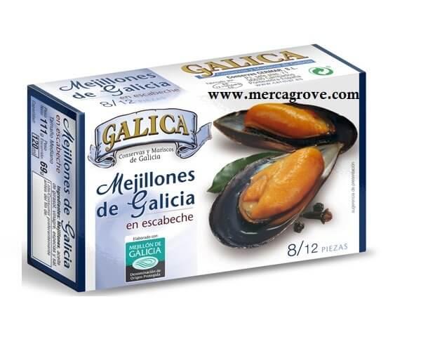 Mejillones en Escabeche Galica 8-12
