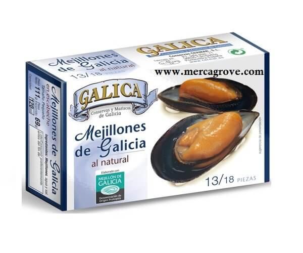 Mejillones al Natural Galica 13-18 Piezas