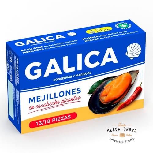 Mejillones en Escabeche Picantes Galica mercagrove