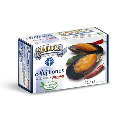 Mejillones en Escabeche Picantes Galica