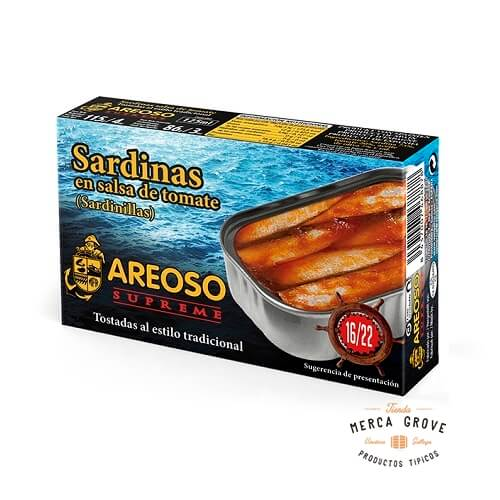 Sardinilla Salsa Tomate Areoso Gourmet 16-22