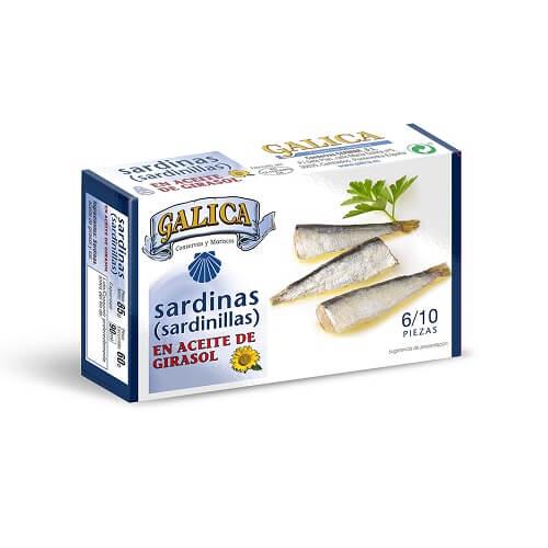 Sardinilla en Aceite de Girasol Galica