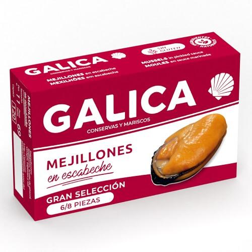 mejillones en escabeche 6-8 unidades Galica Gourmet