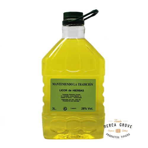 Licor de Hierbas Artesano 3 Litros