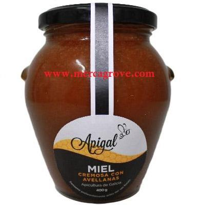 Miel Cremosa Galicia Avellanas Apigal 400 gr