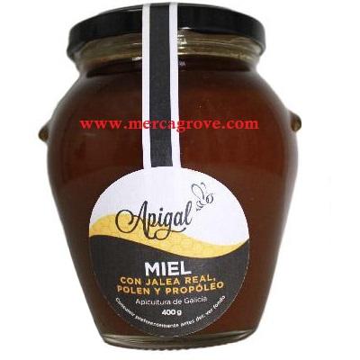 miel con jalea real polen y propóleo apigal
