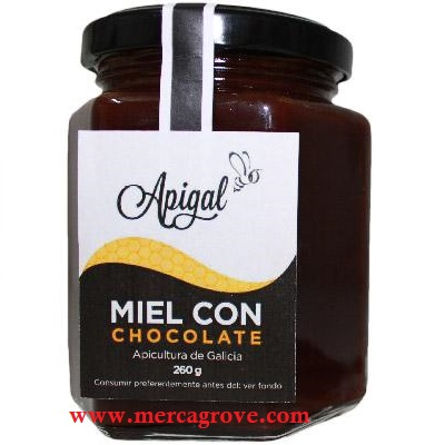 Miel con Chocolate Apigal 260 gr
