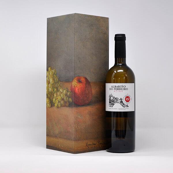 Estuche de Botella de Vino Individual Cerrado y Botella